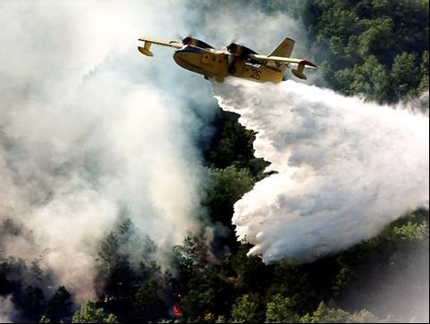 Airborne water bombing