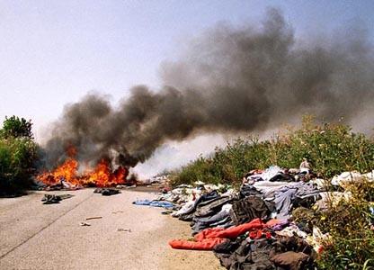incendio rifiuti